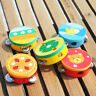 More images of CARTOON WOODEN TAMBOURINE JINGLE PERCUSSION MUSICAL INSTRUMENT KIDS TOY CHEERFUL