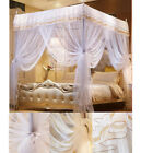 White 4 Corner Post Bed Canopy Mosquito Netting Or Frame/Post Twin Full Queen image