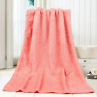 45*65CM Solid Soft Throw Kids Blanket Warm Coral Plaid Blankets Flannel RK image