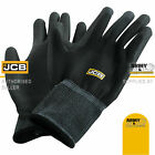 10 x Pairs JCB Heavy Duty Black PU Coated Work Gloves Grip Mechanic Construction