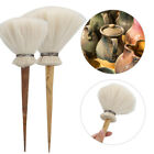 Wool+Bamboo Brush Clay Pottery Sculpture Tool -Ceramic Modeling Carving Cleaning image