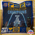 St. Louis Blues 2019 Stanley Cup Champions Quilt Blanket US Supplier $44.99 USD on eBay