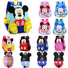 Kids Girls Boy 3D Cartoon Mickey Mouse Backpack Anti Lost Rucksack Children Bags