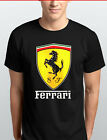 LIMITED Men's Ferrari Supercar Logo Short Sleeve T-Shirt KIDS & ADULTS S-3XL BLK image