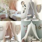 4 Colors Princess Mosquito Net Lace Dome Bed Canopy For Baby Girls Fly Insect  image