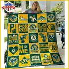 Oakland Athletics Quilt Blanket Made In USA Full Size on Ebay