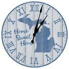Michigan Home Sweet Home Decorative Wall Clock from KDL