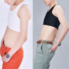 Vest Breast Lady Crop Top Lesbian Breathable Solid Color Buckle Shaper