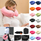 U-shaped Pillow Memory Cotton Neck Pillow Plus Eye Earplug Mask Storage Bag