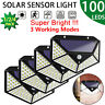100 LED Solar Motion Sensor Wall Way Light Outdoor Garden Yard Lamp Waterproof