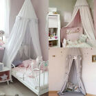 Mosquito Net princess Bed Canopy Girls Bedroom Curtain Dome canopy Pink/Gray US image