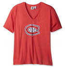 NHL Montreal Canadiens Women's Short Sleeve Heather V-Neck T-Shirt 4X $12.99 USD on eBay