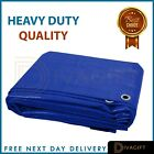 BLUE HEAVY DUTY WATERPROOF TARPAULIN TARP GROUND SHEET LIGHT WEIGHT CAMPING COV <br/> ✅30 DAYS RETURN ✅100% HEAVY DUTY✅NEXT DAY DELIVERY✅