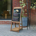 46'' Free Standing Magnetic Wooden Blackboard Easel A-Frame Message Stand Cafe