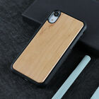 Natural Carved Wood Wooden Pattern Hard Case Cover For iPhone XR 11 6S 7 8 Plus