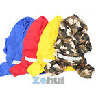Waterproof Pet Dog Puppy Raincoat Jacket Hooded Clothes Rain Outwear Camo Suit