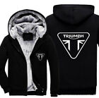 TRIUMPH MOTORCYCLE Mens Printed Thicken Hoodie Jacket Sweatshirt Winter warm Top $9.99 USD on eBay