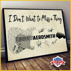 Aerosmith Poster I Don't Want To Miss A Thing Lyrics Paper Poster No Frame