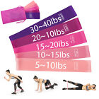 Resistance Bands Loop Set 5 Legs Exercise Workout CrossFit Fitness Yoga Booty image