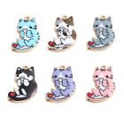 Kyпить 10Pcs Cute Cat Enamel Alloy Charms Pendants for DIY Necklace Jewelry Accessories на еВаy.соm