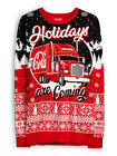 Official COCA-COLA COKE Holidays Are Coming Mens Christmas Xmas Jumper BNWT £24.99  on eBay