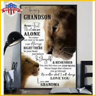 Lion To My Grandson Poster Never Feel That You Are Alone Paper Poster No Frame