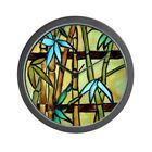 CafePress Tiffany Bamboo Panel Unique Decorative 10 Wall Clock (1189639803)