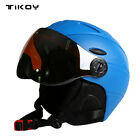 Windproof Pro Ski Snowboard Helmet With Visor Goggles Sport Mask Winter Safety