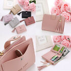 Wallet For Women Leather Mini Tassel Short Credit Card Holder Clutch Coin Purse image