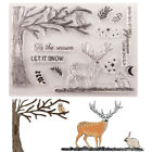 Reindeer Silicone Clear Transparent Stamp and Cutting Dies DIY Scrapbooking