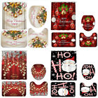 Kyпить Modern Bathroom Christmas Shower Curtain & 3pcs / 4pcs Mat Set Toilet Cover USA на еВаy.соm