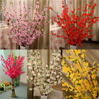Artificial Cherry Plum Peach Blossom Branch Fake Silk Flower Tree Decor 5 Colors