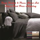 6 Piece Deep Pocket 2100 Count Super Soft Egyptian Bamboo Comfort Bed Sheet Set