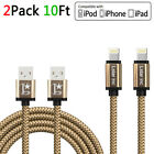 10FT/3M For iPhone 6 iPhone 7 Plus 8 X USB Charger Cable Charging Data SYNC Cord