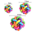 Interactive Pet Dog Ball Cat Toy with Bell Rainbow Pets Chewing Fetching BLDDS