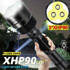 200000lm LED Flashlight 3 XHP90 Torch Light Rechargeable 18650 Lamp Ultra Bright