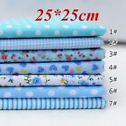 7PCS 100% Cotton Fabric Sewing Material Value Bundle Scraps Offcuts Quilting Y