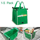 Foldable Eco Reusable Grocery Shopping Bag Grab Supermarket Tote Clip To Cart