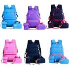 3PCS Kid Children Girl Primary School Book Bag Backpack Rucksack Waterproof