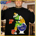 Grinch NFL Official Team Football Pittsburgh Steelers T-Shirt Unisex Black Tee $13.99 USD on eBay