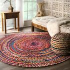 Kyпить nuLOOM Hand Made Bohemian Braided Cotton Area Rug in Multi Color Chindi Round на еВаy.соm