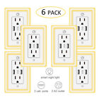 USB Wall Outlet Charger Receptacles Tamper Resistant Smart Night Light Wallplate