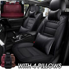 US Luxury 5D PU Leather Car Seat Cover 5 Seat SUV Cushions Front $100.43 CAD on eBay