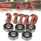 Skateboard Abec 9 608-2RS Ball Bearings 8x22x7 Rubber Sealed Chrome 608RS 10 PCS