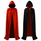 Adult Christmas Halloween Party Long Hooded Cloak Cape Witch Vampire Fancy Dress