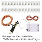 Photo Clips Lights String Copper Wire Lights for Christmas Card Hanging Photos