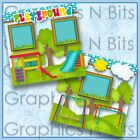 PLAYGROUND Printed Premade Scrapbook Pages