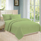 Flat, Fitted Sheet, Duvet Cover, Pillowcases 800 TC 100% Cotton Sage Stripe image