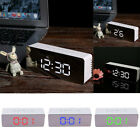 Multifunctional Digital LED Mirror Clock Alarm Night Light Thermometer  US Stock