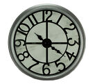 Round Bevel Frame Oversize Wall Clock 30 Inch